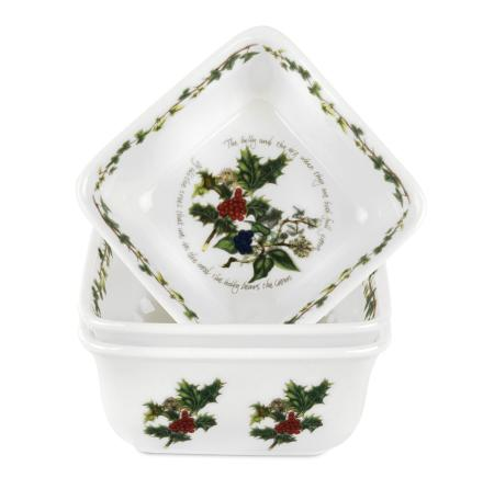 Holly & Ivy Mini Square Dishes