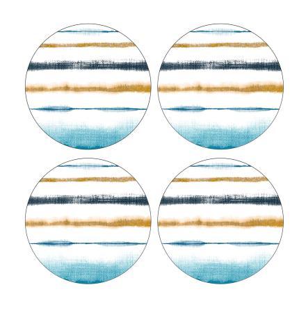 Coast Runda Glasunderlägg 4-pack