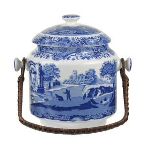 Blue Italian 200th Anniversary Biscuit Barrel
