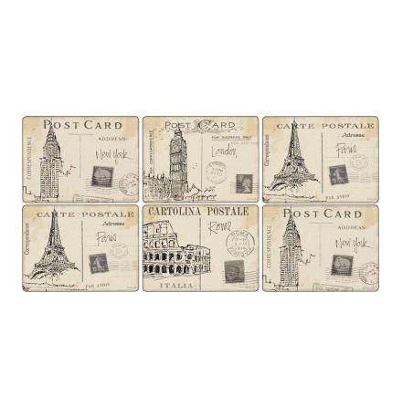 Postcard Sketches Bordsunderlägg 6-pack