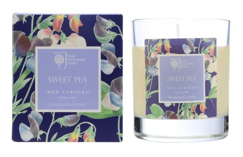 Fragranced Boxed Candle Sweet Pea Doftljus