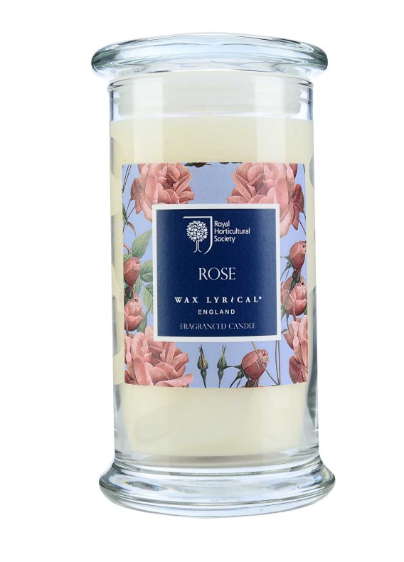 Fragranced Candle Jar Rose Doftljus