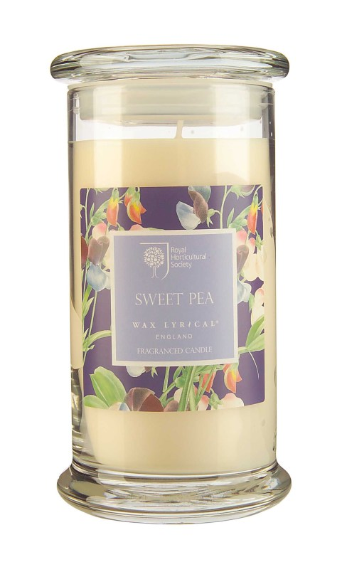 Fragranced Candle Jar Sweet Pea Doftljus
