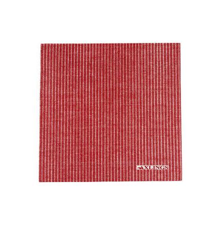 Pappservett röd-vit 50p 40x40