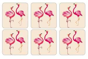 Sara Miller Flamingo Glasunderlägg 6-pack