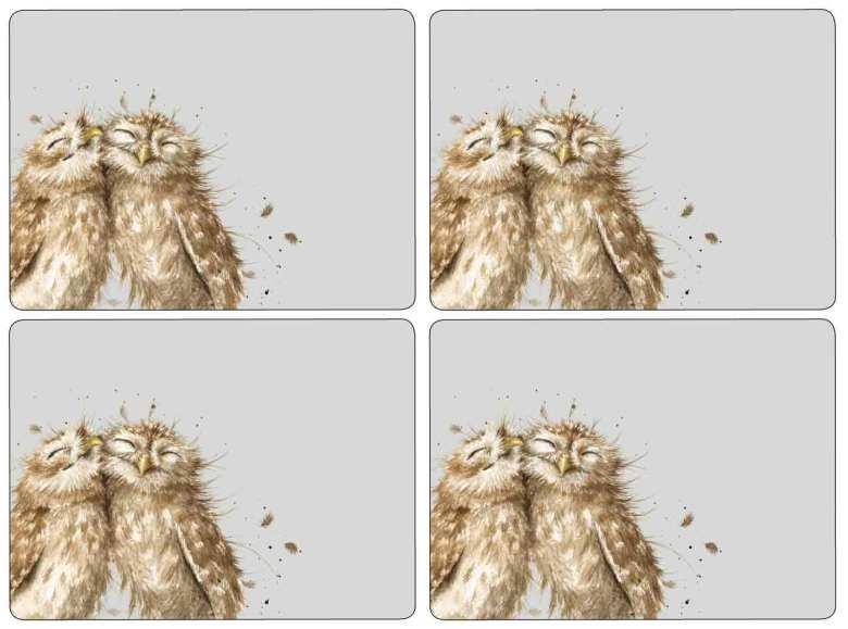 Wrendale Owl Bordsunderlägg 4-pack