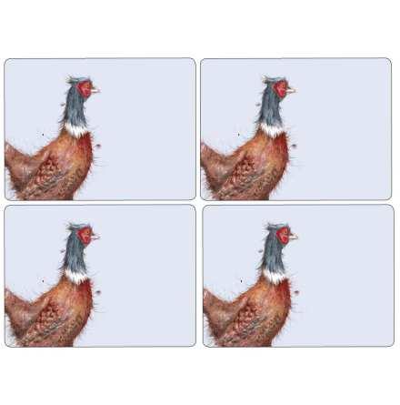 Wrendale Pheasant Bordsunderlägg 4-pack