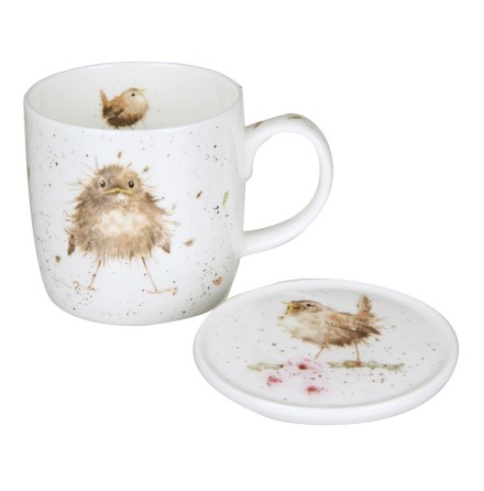 Wrendale Mug And Coaster Set - Flying the Nest