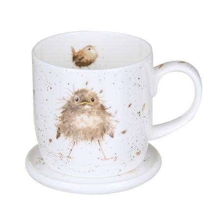 Wrendale Mug And Coaster Set - Flying the Nest