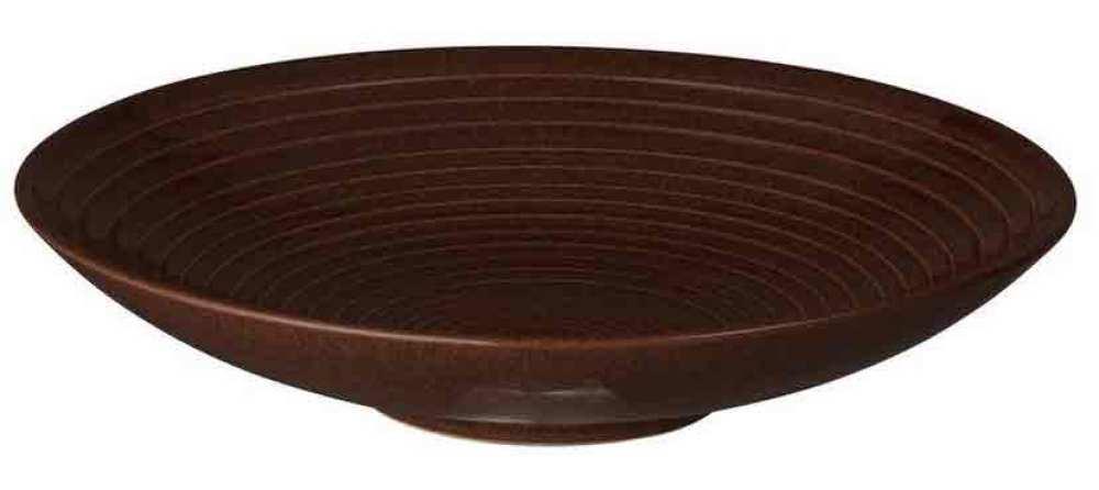 Studio Craft Walnut Medium Ridged Bowl 25,5cm