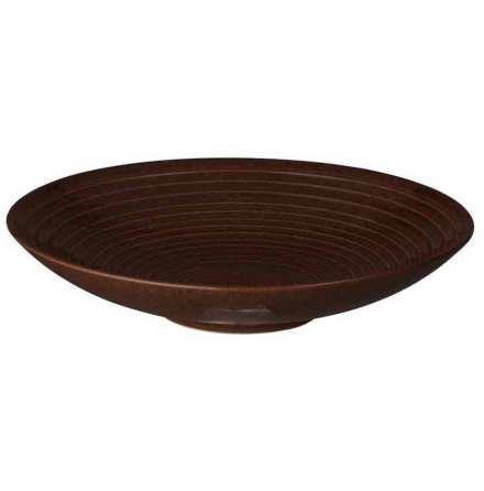 Studio Craft Walnut Medium Ridged Bowl 25,5cm