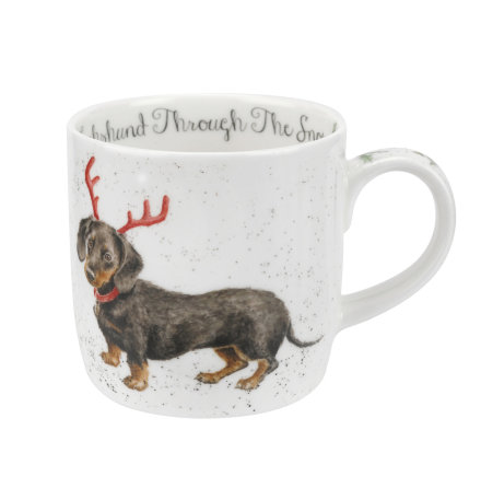 Wrendale Designs Dachshund through the Snow (Dog) Mugg 31cl
