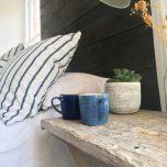 Studio Blue Cobalt/Pebble Räfflad Mugg 40cl