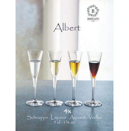 Albert Snapsglas 5cl 4-pack