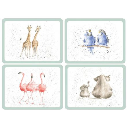 Wrendale Zoological Bordsunderlägg 4-pack