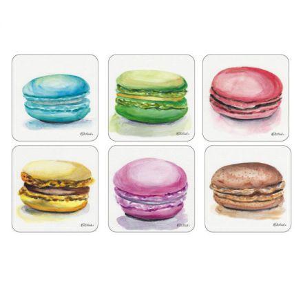 Macarons Glasunderlägg 6-pack