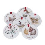 Wrendale Designs 12 Days of Christmas Julpynt 12-pack