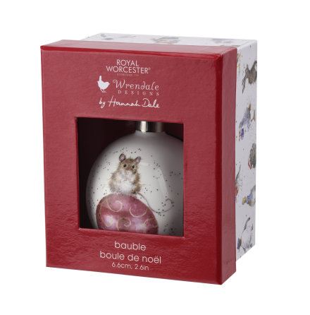 Wrendale Design Christmas Not a Creature was Stirring (mouse) 6.6cm