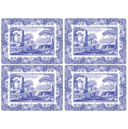 Blue Italian Bordsunderlägg 4-pack