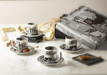 Black Italian Espressokopp & Fat 9cl 4-pack