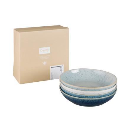Studio Blue Mix Pastatallrikar 4-pack