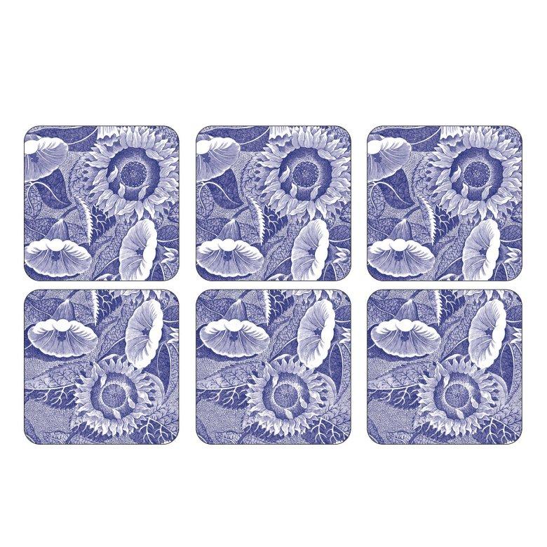 Blue Room Sunflower Glasunderlägg 6-pack