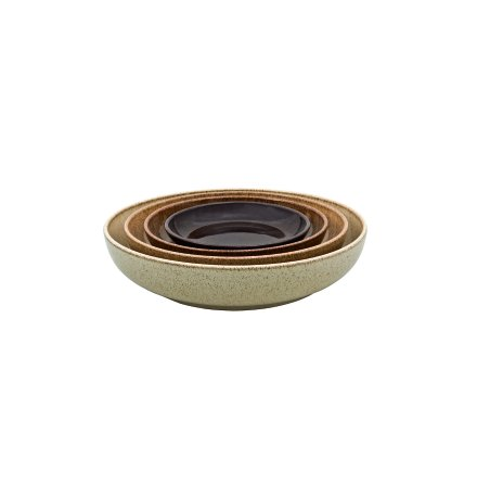 Studio Craft Chestnut 4 Piece Nesting Bowl Set