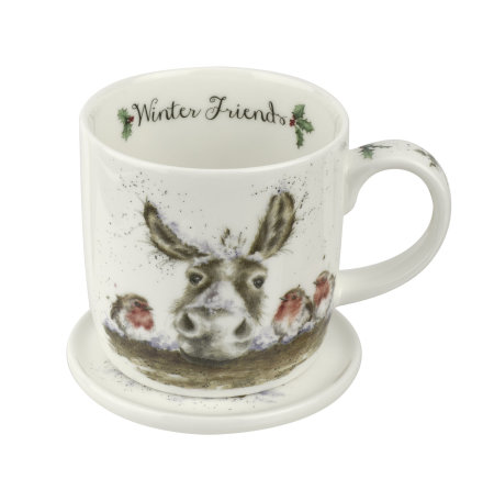 Wrendale Mugg & Coaster Set - Winter Friends 0.31L
