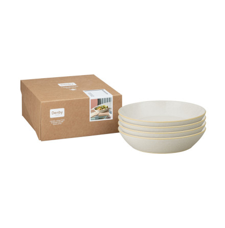Impression Cream Pastatallrik 22cm 4-pack