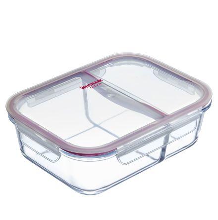 Matlåda i glas, 2-delad, 980 ml