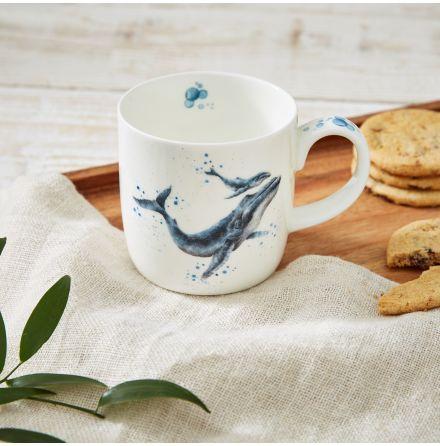 Wrendale Designs Mugg Marine Blue (Whale) 0.31L