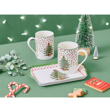 Christmas Tree Mugg och Brickset Polka Dot