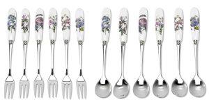 Botanic Garden Dessertgaffel & Tesked set 12-pack