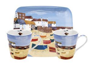 St Ives Windbreak Mugg & Bricka Set