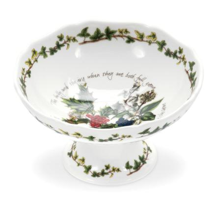Holly & Ivy Scalloped Dish