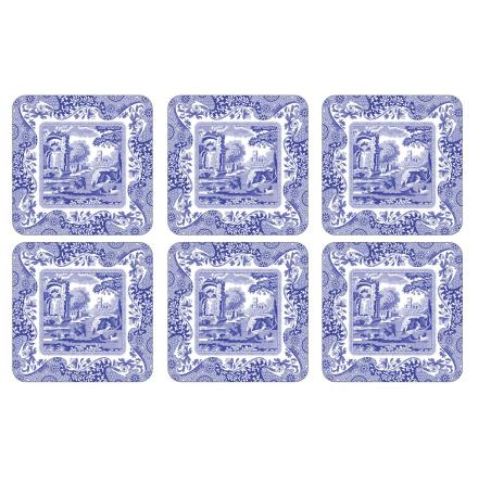 Blue Italian Glasunderlägg 6-pack