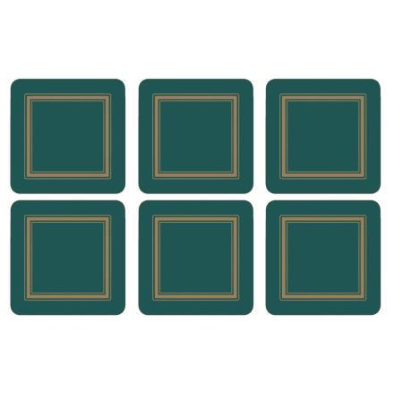 Classic Emerald Glasunderlägg 6-pack