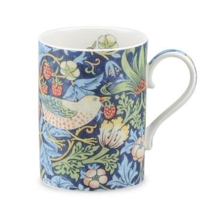 FBC Mugg Morris & Co Strawberry Thief Indigo Mineral