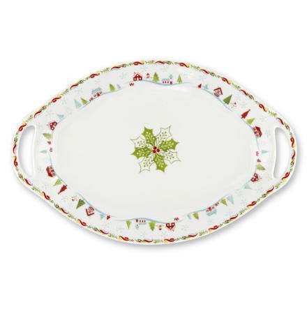 Christmas Wish Oval Handled Pl