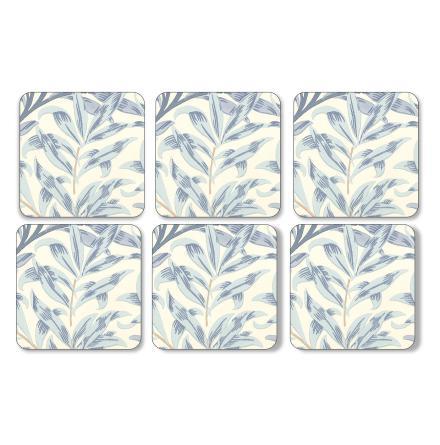 Willow Bough Blue Glasunderlägg 6-pack