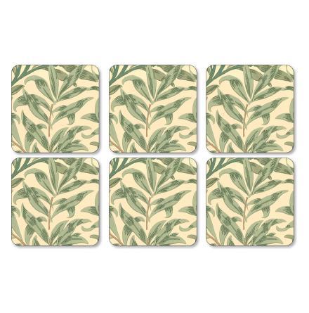 Willow Bough Green Glasunderlägg 6-pack