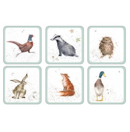 Wrendale Designs Glasunderlägg 6-pack