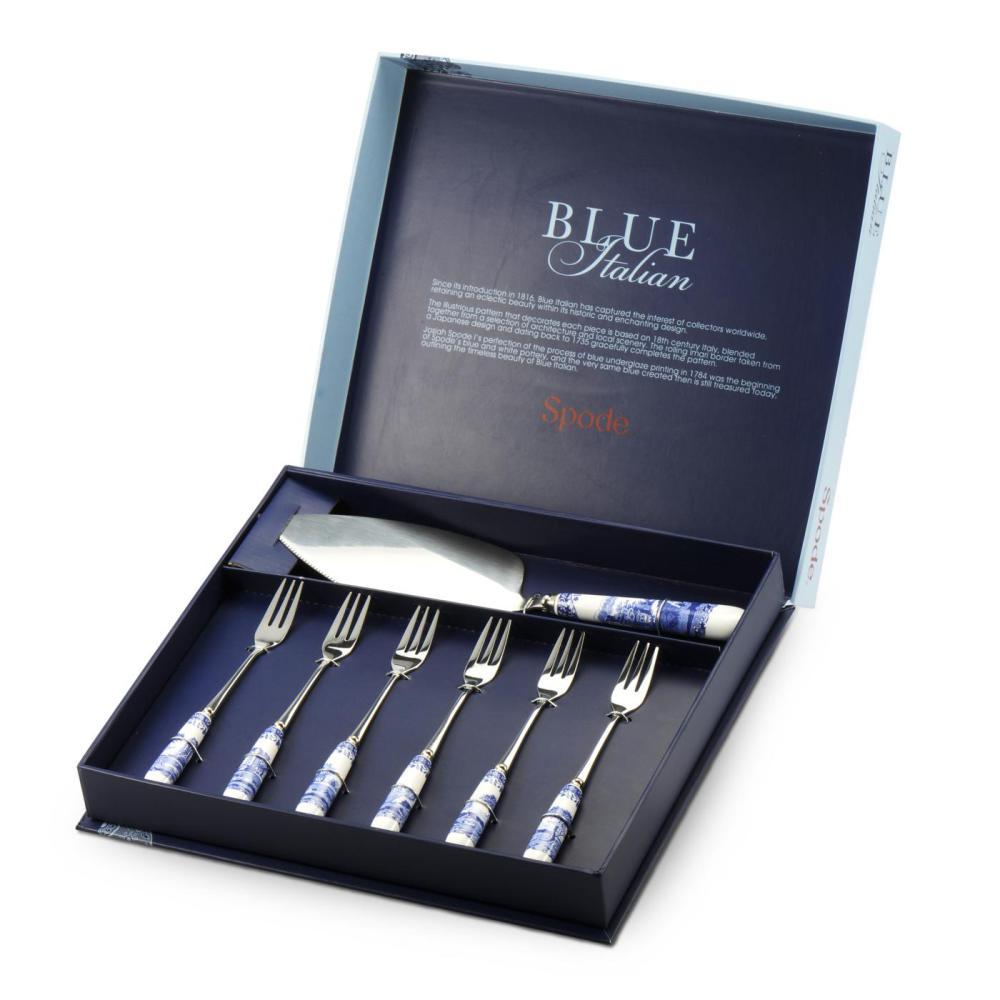 Blue Italian Dessertset