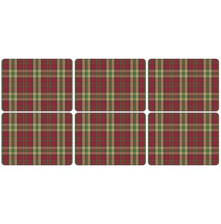 Tartan Red Bordsunderlägg 6-pack