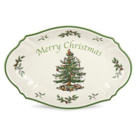 Christmas Tree Merry Christmas Bricka 28cm