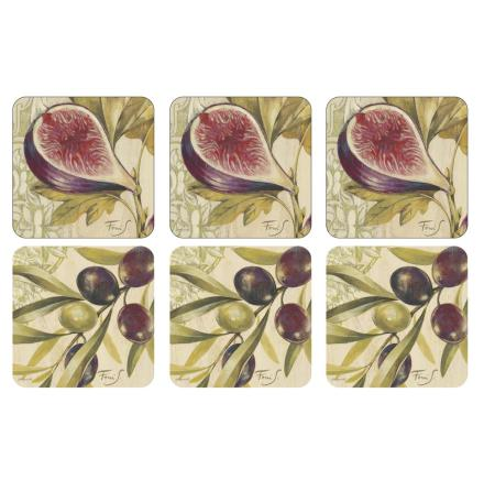 Olives & Figs Glasunderlägg 6-pack