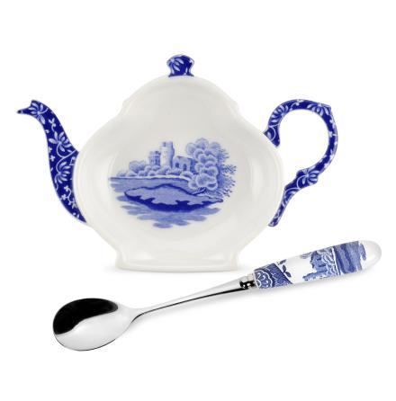 Blue Italian Tepåsehållare med Tesked